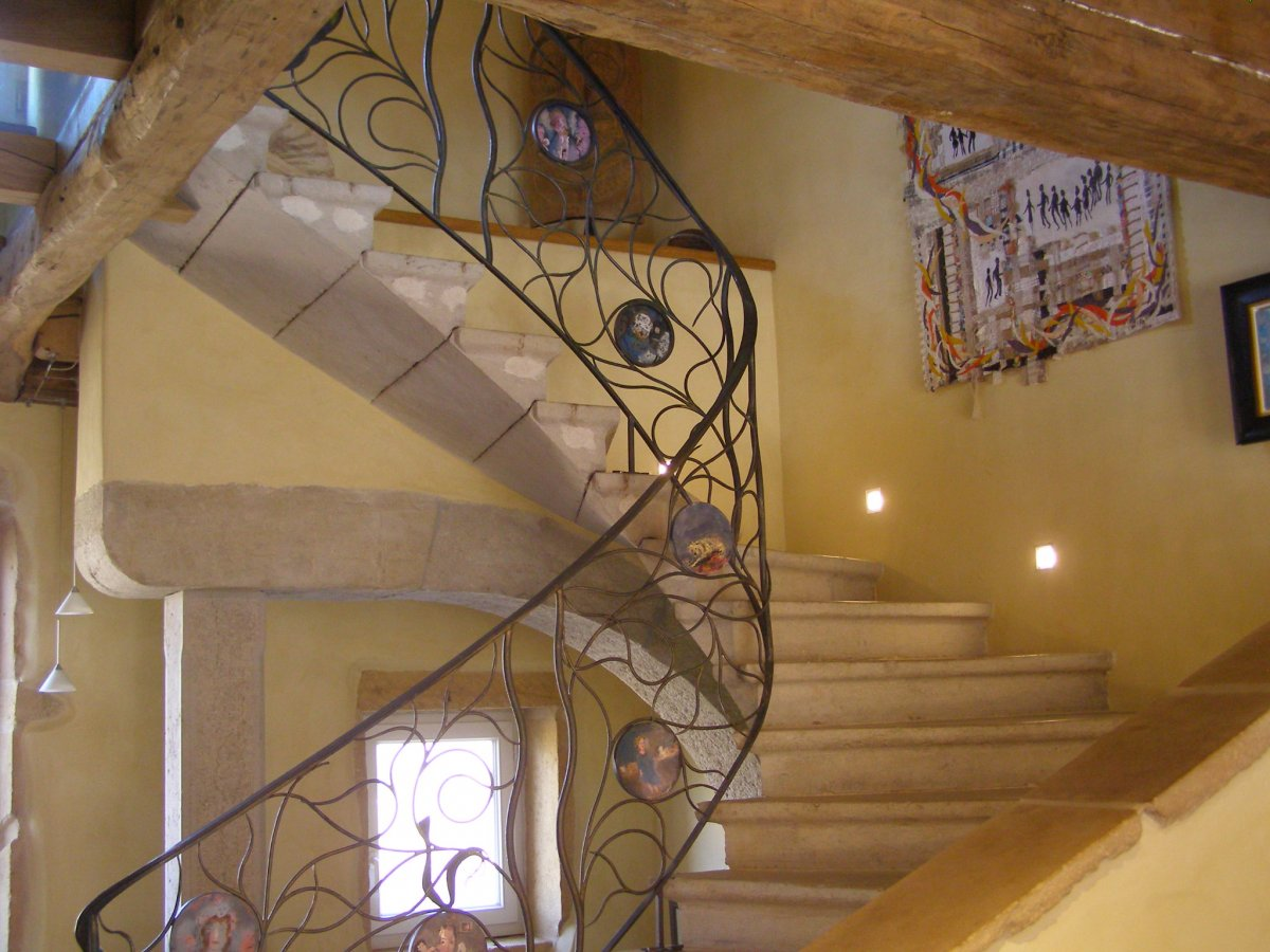 rampe d'escalier contemporaine