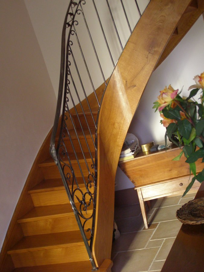 rampe d'escalier fer  forgé simple